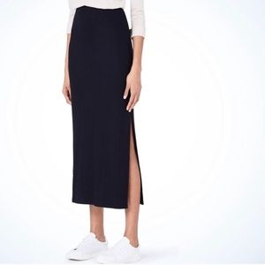 GAP Navy Blue Double Slit Maxi Skirt